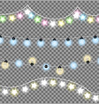 colorful festive garlands vector image vector image