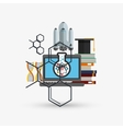 Colorful science design over white background vector image vector image
