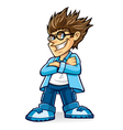 Cynical Boy Geeks vector image vector image