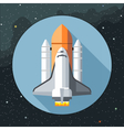 Digital with space shuttle icon vector image vector image