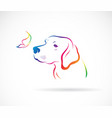 dogslabrador and butterflies on white background vector image vector image