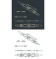 double kayak drawings vector image