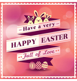 Easter card with ribbon design vector image