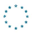 EU symbol grunge icon vector image