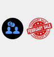 Euro people chat icon and grunge february