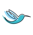 Flying stylized humming bird vector image vector image