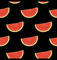 fruit seamless pattern with juicy watermelon vector image