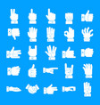 Gesture icons set simple style