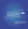 graph of cryptocurrency graphics and analytics of vector image vector image