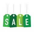 green sale tags vector image vector image