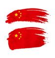 grunge brush stroke with china national flag vector image