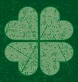 grunge four leaf clover vector image vector image
