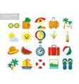 holiday travel icon set package vector image vector image