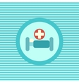 Hospital bed color flat icon vector image vector image