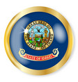 idaho flag button vector image vector image