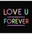Neon font text design vector image vector image