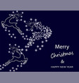 new year s christmas card abstract silhouette of vector image vector image