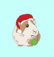 new years guinea pigs in christmas vector image