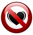 no love mark vector image vector image