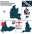 Oxfordshire South East England vector image
