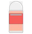 pink antiperspirant on white background vector image