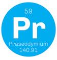 Praseodymium chemical element vector image vector image