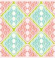 pretty geometric diamond damask pattern seamless vector image vector image