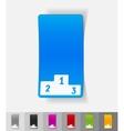 realistic design element pedestal vector image vector image