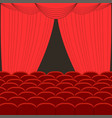 rows of red cinema vector image vector image