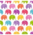 seamless pattern with funny elephants vector image vector image