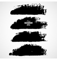 Set of three black grunge banners for your design vector image vector image