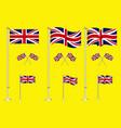 set united kingdom flag clip art vector image