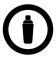 shaker icon black color in circle vector image vector image