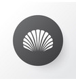 shell icon symbol premium quality isolated conch vector image