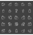Smoothie outline icons vector image vector image