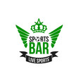 soccer sports beer pub icon vector image vector image