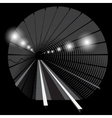 subway underground train with lights vector image