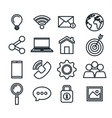 technology collection social media online items vector image