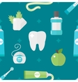Tooth health pattern vector image