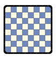 top view flat chessboard vector image