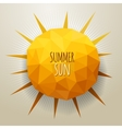 triangle summer sun vector image