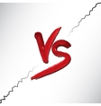 Versus letters logo Red V and S flat style symbol vector image vector image