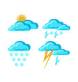 weather forecast signs vector image vector image