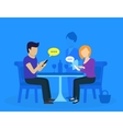 Young couple sitting in the restaurant vector image