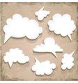 Paper Speech Bubble Cloud vector image
