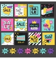 Set of sale banners design vector image