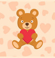teddy with heart vector image
