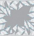 broken glass window on transparent background vector image