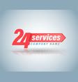 24 services symbol vector image