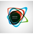 Abstract form Color line design eps10 vector image vector image